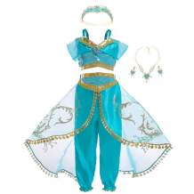 WonderBabe Princess Costume for Girls Halloween Party Dress Up Fancy Birthday Role Play Outfits with Accessories 3-8 Years