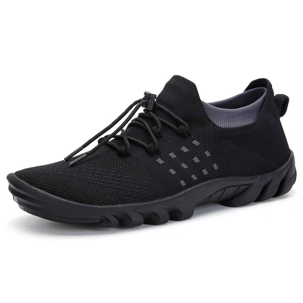 Leyang Mens Womens Walking Shoes Lightweight Breathable Slip-on Jogging Sock Sneakers Trail Runners