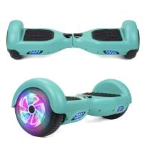 "YHR 6.5"" Hoverboard Two- Flashing Wheels Self Balancing Electric Scooter LED Lights Wheels UL2272 Certified Hoverboard for Kids"