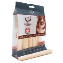 Amazing Dog Treats 6 Inch Cow Tail Dog Chew- Premium Quality Dog Treats - Sourced from Grass Fed Cattle - Long Lasting Dog Chew Bones- Rawhide Alternative
