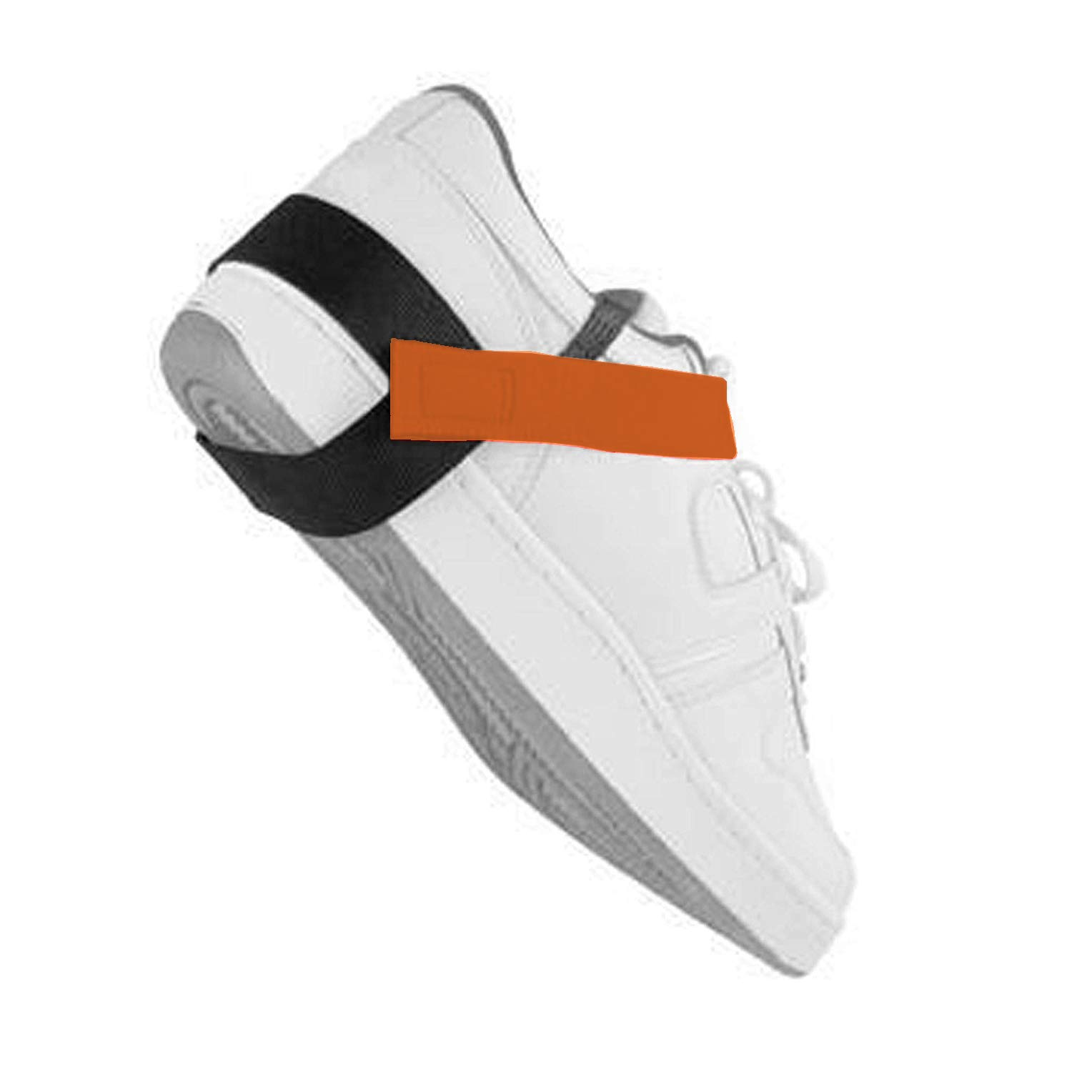 Static Care ESD Adjustable One Size Fits All Anti Static Heel Grounder Straps Single Piece Perfect for Grounding and Protecting Electronics Against Electric Shock - Orange, 1 Piece