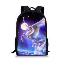 Allcute Kids School Backpack Large Durable Elementary Preschool Book Bags for Boys Girls Unicorn Print