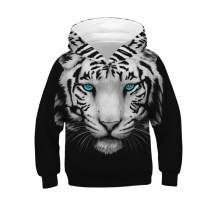 Ainuno Kids Boys Girls Hoodie Pullover 4-15Y Galaxy Wolf Sweatshirts 3D Cool Top