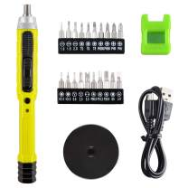 """CACOOP Cordless 4V Precision Screwdriver Electric Pen Screwdriver With Magnetizer, LED light, 1/8""""Bits Set, USB Charge Cable, Repair Tools For PC, Electronics, Smartphone and Model Airplane"""