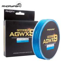 ANGRYFISH Super Power 9 Strands Braided Fishing Line,Cost-Effective Smooth Superline-Extremely Durable-Wonderful Tool for Fishing Enthusiast-Multiple Colors