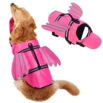 Dog Life Jacket, Unique Wings Design Pet Puppy Life Vest for XL Size Dogs, Dog Lifesaver Preserver with Handle&Reflective, for Swim, Pool, Beach, Boating