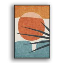 """IDEA4WALL Framed Canvas Wall Art Abstract for Living Room, Bedroom Color Block Canvas Prints for Modern Home Decoration Ready to Hang - 24""""x36"""" inches"""
