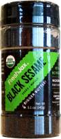 FreshJax Premium Organic Spices, Herbs, Seasonings, and Salts (Certified organic Black Sesame Seeds - Large Bottle)