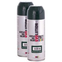 Fast Dry, Low Odor, Low VOC - Acrylic Spray Paint PintyPlus Evolution - Pack of 2 (Moss Green)
