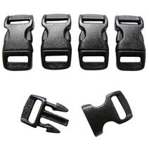 Ravenox 3/8-Inch Contoured Buckle | Quick Release Buckle with Curved Side Release | 550 Paracord Buckles, Paracord Bracelet Buckles, Plastic Buckles for Backpacks, Bags, Tactical Gear, Webbing Use