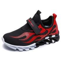 mei nian guan Boys Mesh Sneaker Outdoor Athletic Slip on Casual Running Shoes Lightweight Sneakers