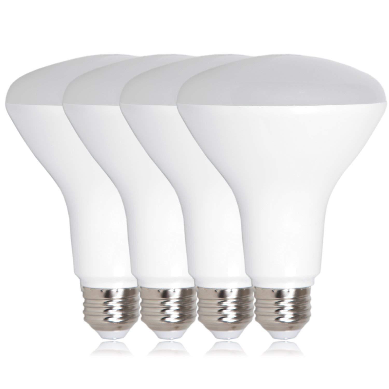 Maxxima LED BR30 75 Watt Equivalent Dimmable 11 Watt Light Bulb Warm White 950 Lumens Energy Star, 3000K (Pack of 4)
