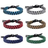 Jeka Handmade Friendship Bracelets for Women Teen Girls 6 Pack Bulk Adjustable Woven Waterproof String Braided Wristbands