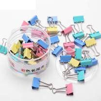 Mitid 48 Pieces 1 Inch Paper Binder Clips, Paper Binder Clamps, Mix Candy Color Fold Back Clips