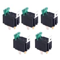 ESUPPORT 12V 30A Car Motor Heavy Duty Relay 4Pin Fuse On/Off Switch SPST Metal Pack of 5