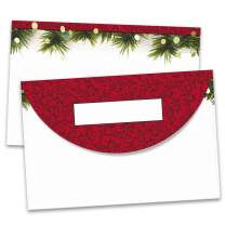 PaperDirect Christmas Twilight Crescent Envelopes, 24 lb Cover Stock, 5 3/4 x 8 3/4, Pack of 25, 50, or 100