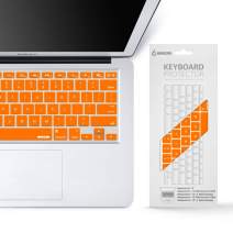 """iBenzer Macaron Series Keyboard Cover for MacBook Pro 13"""" 15"""" 17"""" (with or w/Out Retina Display) MacBook Air 13"""" and iMac Wireless Keyboard, Orange,MKC01OR"""