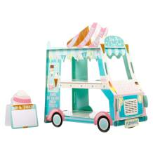 3 Tier Bus Cupcake Stand Ice Cream Holder for Barbecue Grilling Picnic Party Valentines Day Decorations