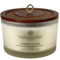 Chesapeake Bay Candle 3-Wick Scented Candle, Cypress & Oak, Coffee Table Jar