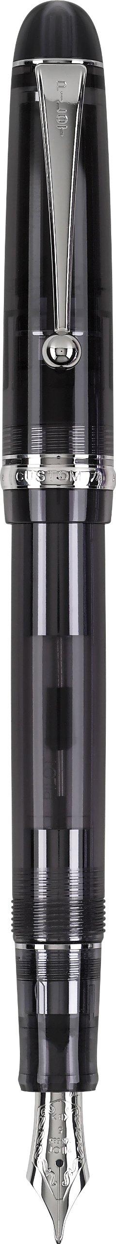 PILOT Custom 74 Fountain Pen, Black Smoke Barrel, Medium Nib (60955)