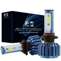AUTOVIZION H4(9003) LED Headlight Bulb for any H4 Halogen Headlight Bulb upgrade to LED (1 pair, Cool White)