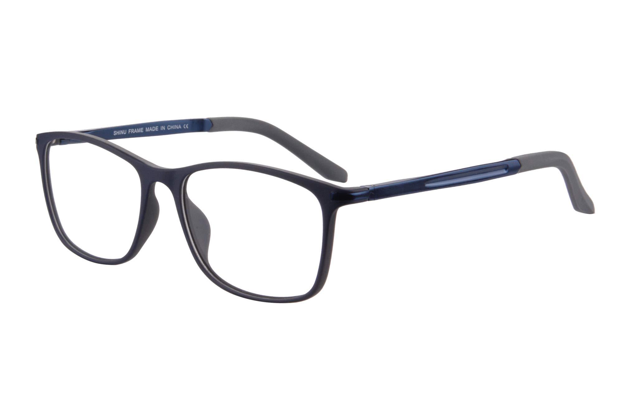 SHINU Unisex Blue Ray Blocking Progressive Multifocus Reading Glasses-MAT031