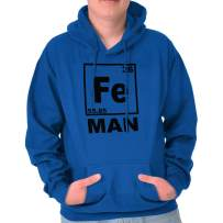 Fe Iron Science Elements Funny Nerdy Geeky Hoodie
