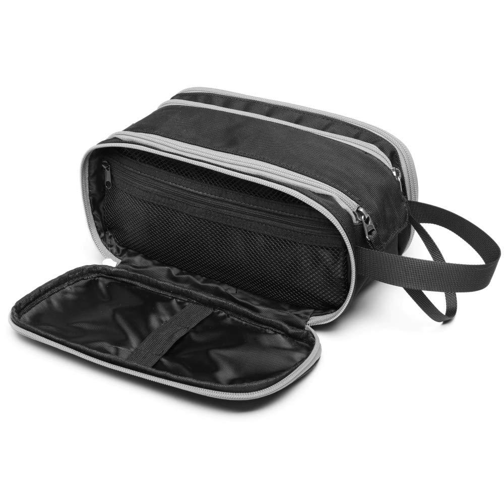 Toiletry Bag for Men, F-color Large Waterproof Dopp Kit for Men Travel Toiletry Shaving Bag, Women Travel Makeup Organizer Bathroom Bag, Black
