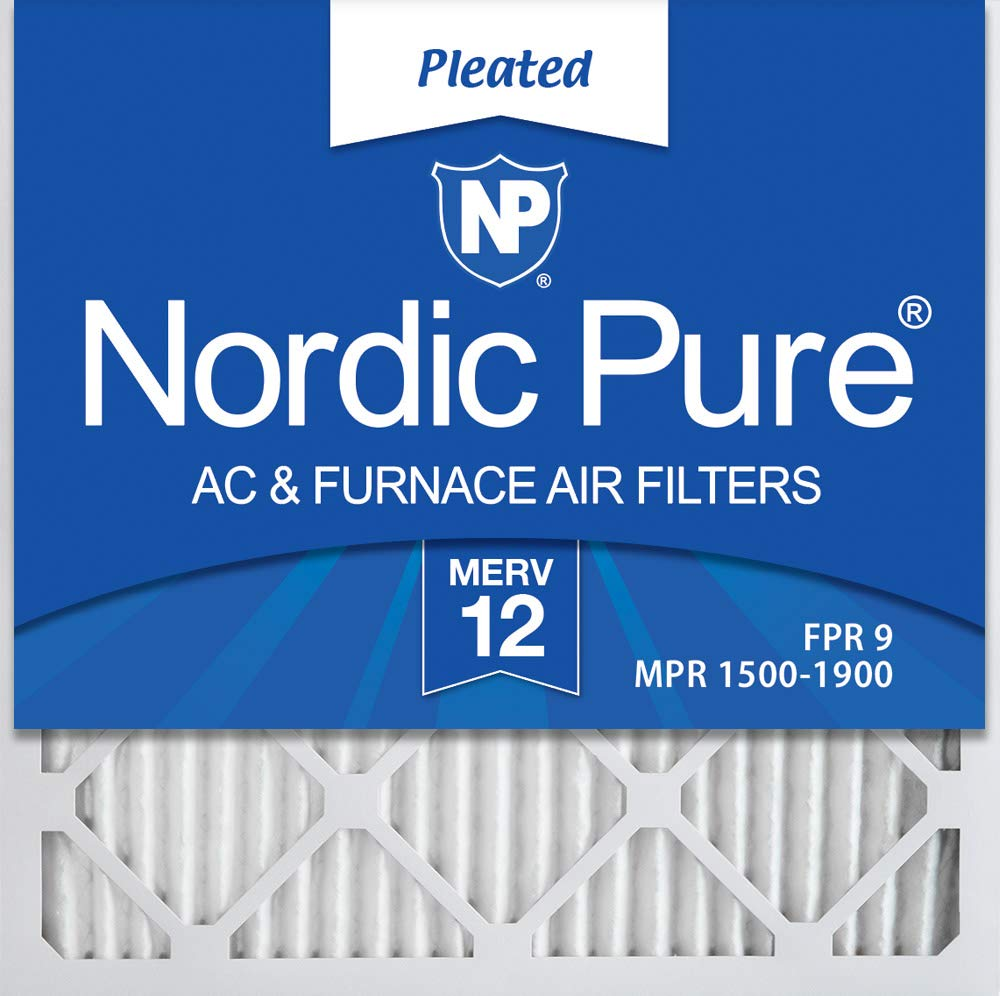 Nordic Pure 20x20x1 MERV 12 Pleated AC Furnace Air Filters, 20x20x1M12-6, 6 Pack