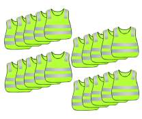 Kids Reflective Vest Bulk High Visibility Traffic Construction Worker Waistcoat Garbage Man Dress Up Costume