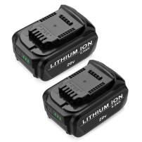 6.0Ah Replace Dewalt 20V Replacement Battery : DCB205 DCB204 - Upgraded Li-ion Battery 2Pack for All Dewalt 20V Cordless Power Tools DCB180 DCB200 DCB204-2 DCB205-2 DCB206 Dewalt DCD/DCF/DCG Series