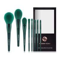 Makeup Brushes, Eigshow Premium Makeup Brush Set Synthetic Cosmetics Foundation Powder Concealers Blending Eye Shadows Face Kabuki Makeup Brush Sets (8pcs, Green)