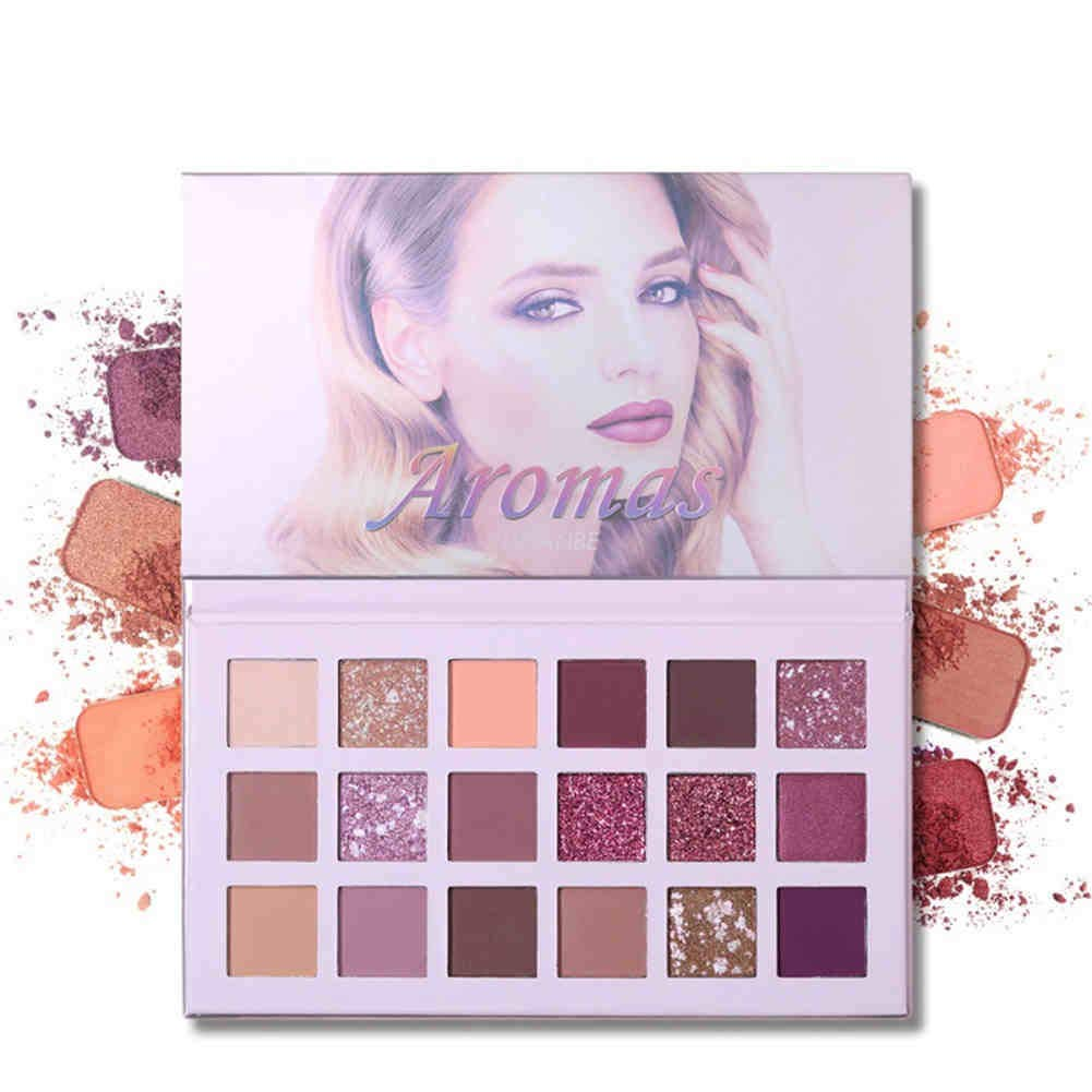 Ucanbe Eyeshadow Palette 18 Colors Glitter Matte Shimmer High Pigmented Long Lasting Rose Make up Eye Shadow Pallete, Great Choice for Girls.