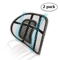 Big Ant Lumbar Support, Car Mesh Back Support with Massage Beads Ergonomic Designed for Comfort and Lower Back Pain Relief - Lumbar Back Support for Car Seat Office Chair Wheelchair(2 Pack)