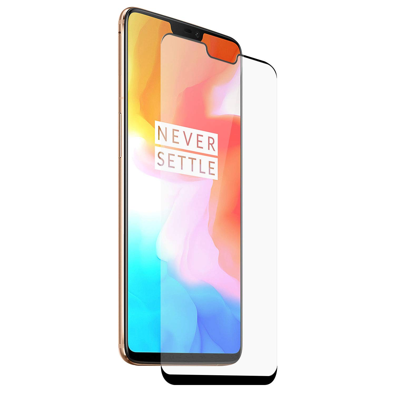 Olixar for OnePlus 6 Screen Protector - Tempered Glass 9H Rated - Shock Protection - Easy Application, Card and Cleaning Cloth Included - Clear