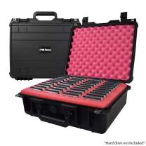 SiForce Drive Transporter Case S40 Rugged Case with Pink Anti-Static Foam for 40 Internal 2.5 inch HD Drives