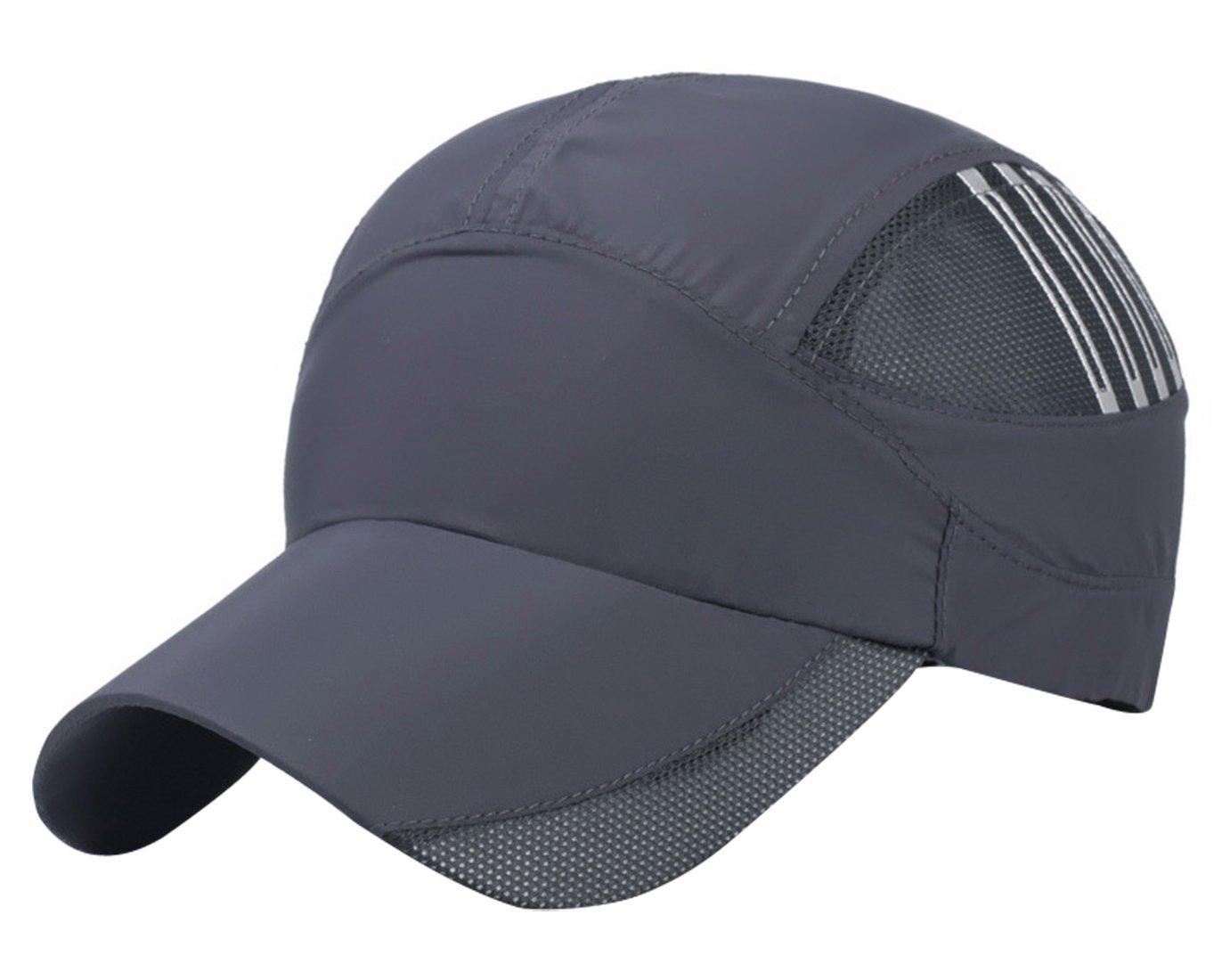 Unisex Summer Running Cap Quick Dry Mesh Outdoor Sun Hat Stripes Lightweight Breathable Soft Sports Cap