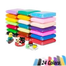 Aitsite 24 Colors Air Dry Modeling Clay Kit Fluffy Slime Clay DIY Super Light Model Magic Clay for Kids Boys Girls (24 Pcs)