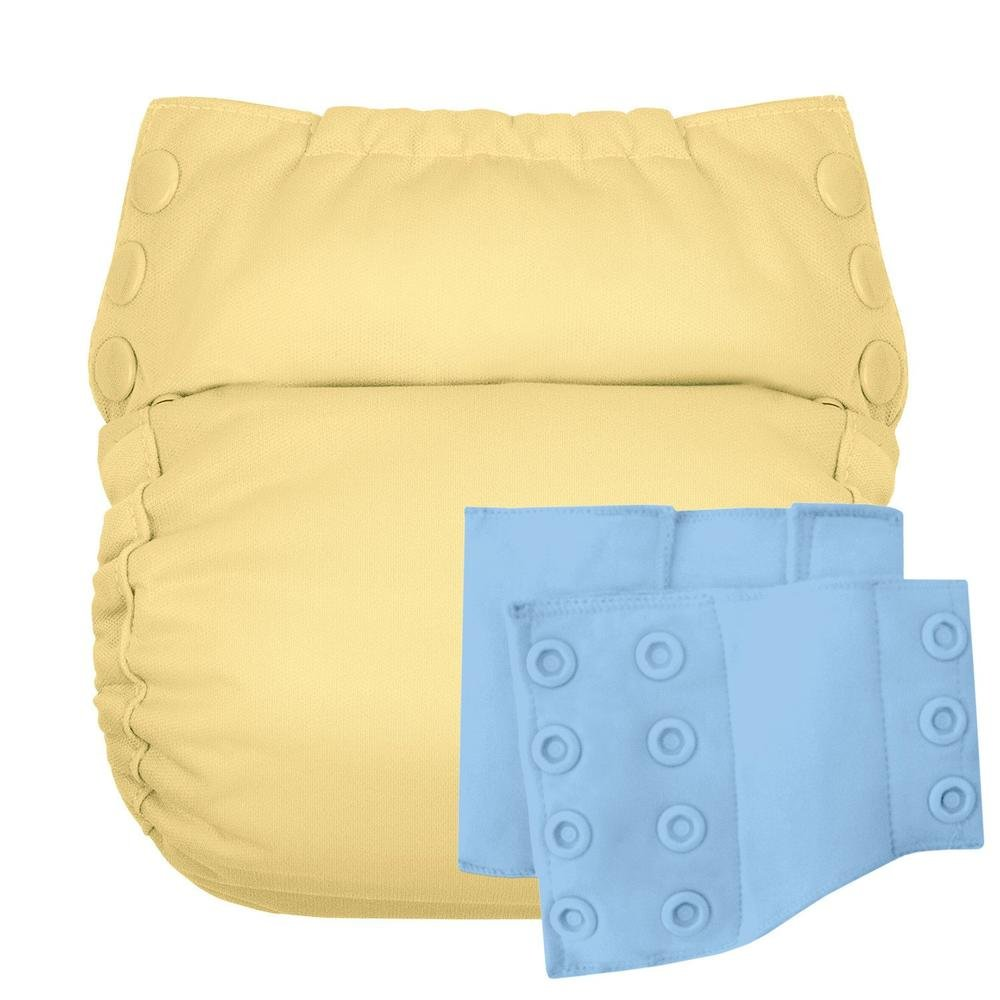 Flip Reusable Potty Training Cloth Diaper - Shell with Side Panels (Butternut/Twilight)