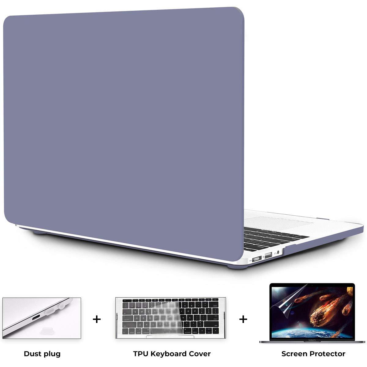 OneGET MacBook Air 13 Inch Case Hard Shell Laptop Case MacBook Air 13 inch Release 2010-2017 A1369 A1466 with Retina Display Computer Case MacBook Air 13 Inch Cream Color Series MacBook Lavender Grey