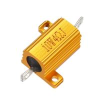 uxcell Aluminum Case Resistor 10W 4 Ohm Wirewound for LED Converter with Rod Post 10W4RJ