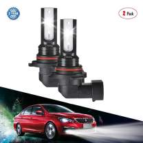 Fog Lights, LTPAG 9006|HB4 DRL 3200 Lumens Extremely Bright CSP Chips LED Bulbs - High Illumination 50W Lamp Replacement Set - 6000K Xenon White 12V ~ 24V(2pcs)