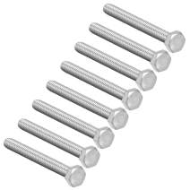 uxcell M8 Hex Bolt M8-1.25 x 75mm UNC Hex Head Screw Bolts 304 Stainless Steel Fully Threaded Hex Tap Bolts 8 PCS