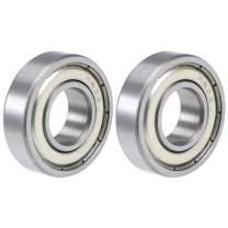 "uxcell R8ZZ Deep Groove Ball Bearings 1/2""x1-1/8""x5/16"" Double Shielded Chrome Steel Z2 2pcs"