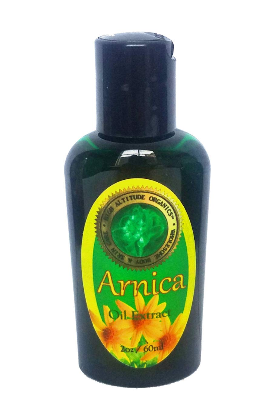 Arnica Oil Extract - 2 oz - Muscle Joint Pain Soothing - Neck,Back,Legs, Sprains, Fractures, Bruise Gone, Calming Sunburn, Sore Body Deep Tissue Massage Therapy Relief - Arnica Montana Oil for pain