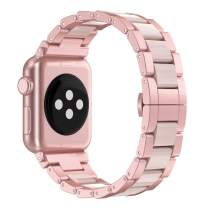 Wearlizer Light Purple Thin Leather Compatible with for iWatch Band 38mm 40mm Womens Slim Sport Strap Replacement Wristband Leisure Small Bracelet (Rose Gold Metal Clasp) Series 5 4 3 2 1 Edition