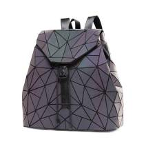DIOMO Geometric Lingge Women Backpack Luminous Flash Mens Travel Shoulder Bag Rucksack