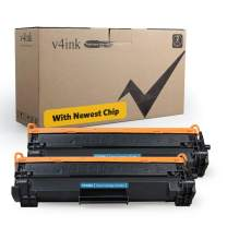 [with New CHIP] V4INK Black 2-Pack Compatible for HP 48A CF248A M15w M29w Toner Cartridge for use in HP Laserjet Pro M15w M15a M16a M16w M15 HP Laserjet Pro MFP M28w M28a M29w M29a M29 Printer Ink