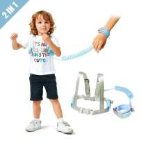 Lehoo Castle Toddler Leash for Walking, 2m Toddler Safety Harnesses Leashes, Safety Harness with Lock for Kids, Anti Lost Wrist Link Safety Wrist Link for Toddlers (Blue)