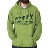 Brisco Brands Evolution of Fisherman Funny Angler Fishing Hoodie